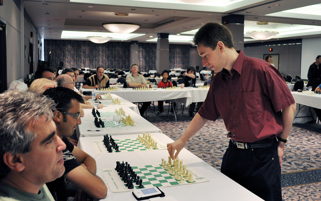 2009 Canadian Open Chess Championship - Michael Adams Simul