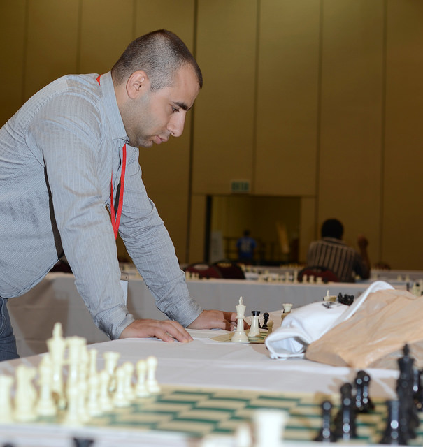 2012 Las Vegas International Chess Festival Varuzhan Akobian and Timur Gareyev Simul